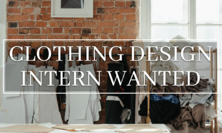 CLOTHING DESIGN INTERN WANTED